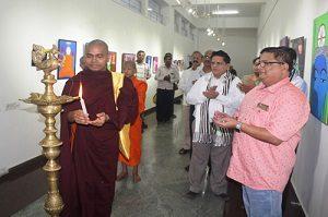 Buddha Rangoli Event